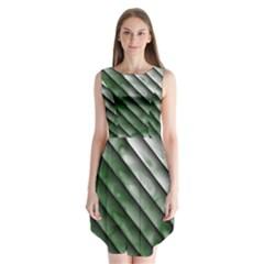 Green Bamboo Sleeveless Chiffon Dress