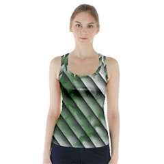 Green Bamboo Racer Back Sports Top