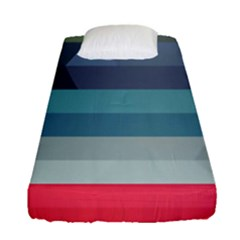 Line Light Stripes Colorful Fitted Sheet (single Size)