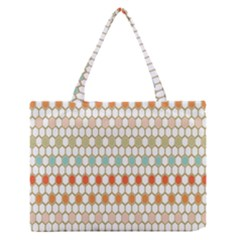 Lab Pattern Hexagon Multicolor Medium Zipper Tote Bag