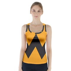 Minimal Modern Simple Orange Racer Back Sports Top