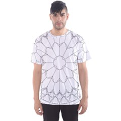 Roses Stained Glass Men s Sport Mesh Tee