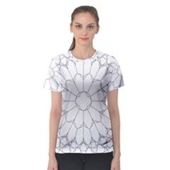 Roses Stained Glass Women s Sport Mesh Tee