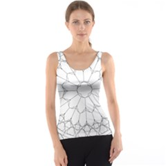 Roses Stained Glass Tank Top