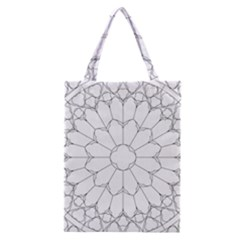 Roses Stained Glass Classic Tote Bag