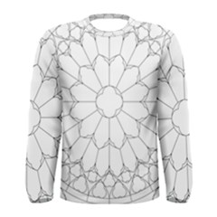 Roses Stained Glass Men s Long Sleeve Tee