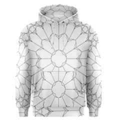 Roses Stained Glass Men s Pullover Hoodie