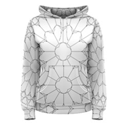Roses Stained Glass Women s Pullover Hoodie