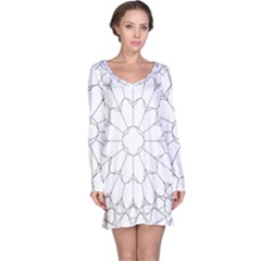 Roses Stained Glass Long Sleeve Nightdress