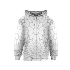 Roses Stained Glass Kids  Zipper Hoodie