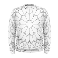 Roses Stained Glass Men s Sweatshirt