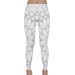 Roses Stained Glass Classic Yoga Leggings