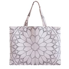 Roses Stained Glass Zipper Mini Tote Bag