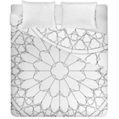 Roses Stained Glass Duvet Cover Double Side (california King Size)