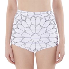 Roses Stained Glass High Waisted Bikini Bottoms