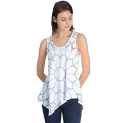 Roses Stained Glass Sleeveless Tunic