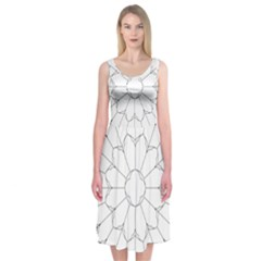 Roses Stained Glass Midi Sleeveless Dress