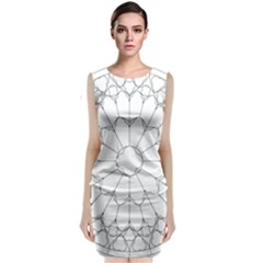 Roses Stained Glass Classic Sleeveless Midi Dress