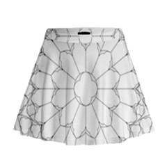 Roses Stained Glass Mini Flare Skirt