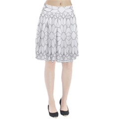Roses Stained Glass Pleated Skirt