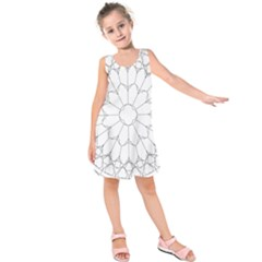 Roses Stained Glass Kids  Sleeveless Dress