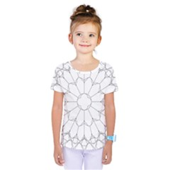Roses Stained Glass Kids  One Piece Tee