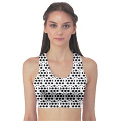 Seamless Honeycomb Pattern Sports Bra