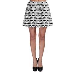 Seamless Honeycomb Pattern Skater Skirt