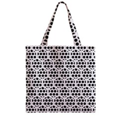Seamless Honeycomb Pattern Grocery Tote Bag