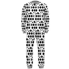 Seamless Honeycomb Pattern Onepiece Jumpsuit (men)