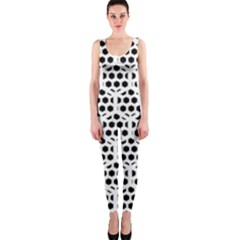 Seamless Honeycomb Pattern Onepiece Catsuit