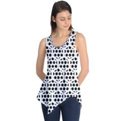 Seamless Honeycomb Pattern Sleeveless Tunic