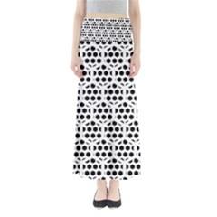 Seamless Honeycomb Pattern Maxi Skirts