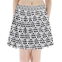 Seamless Honeycomb Pattern Pleated Mini Skirt