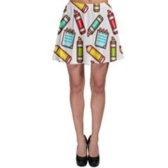Seamless Pixel Art Pattern Skater Skirt