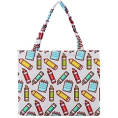 Seamless Pixel Art Pattern Mini Tote Bag