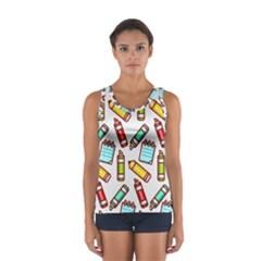 Seamless Pixel Art Pattern Women s Sport Tank Top