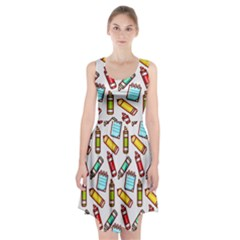 Seamless Pixel Art Pattern Racerback Midi Dress