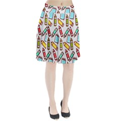 Seamless Pixel Art Pattern Pleated Skirt