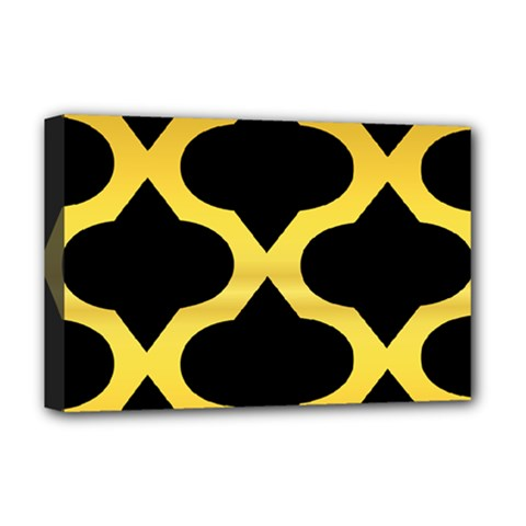 Seamless Gold Pattern Deluxe Canvas 18  X 12