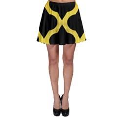 Seamless Gold Pattern Skater Skirt