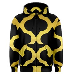 Seamless Gold Pattern Men s Zipper Hoodie