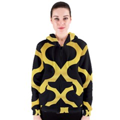 Seamless Gold Pattern Women s Zipper Hoodie