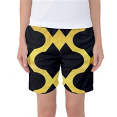 Seamless Gold Pattern Women s Basketball Shorts