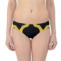 Seamless Gold Pattern Hipster Bikini Bottoms