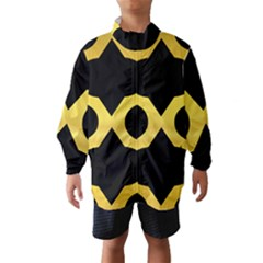 Seamless Gold Pattern Wind Breaker (kids)