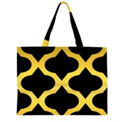 Seamless Gold Pattern Large Tote Bag
