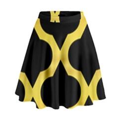 Seamless Gold Pattern High Waist Skirt