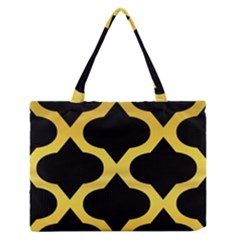 Seamless Gold Pattern Medium Zipper Tote Bag