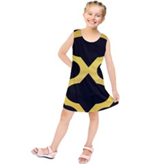 Seamless Gold Pattern Kids  Tunic Dress
